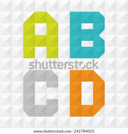 Geometric Letters - stock vector