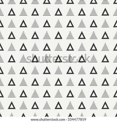 Geometric line monochrome abstract hipster seamless pattern with triangle. Wrapping paper. Scrapbook paper. Tiling. Vector illustration. Background. Graphic texture for design, wallpaper.  - stock vector