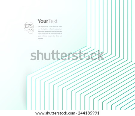 Geometric Lines Makes A 3D Minimal Box - Illustration. Scalable EPS10 Vector Content for Professional Use - stock vector