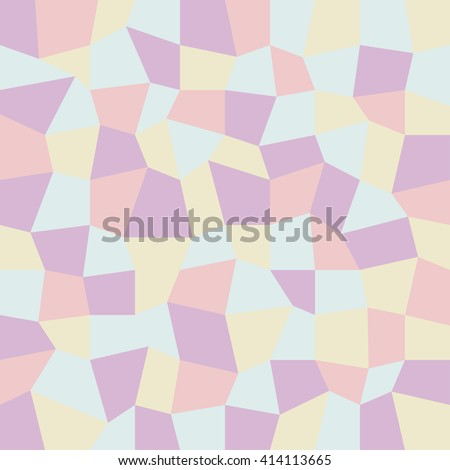Geometric low poly graphic pattern made of rectangle facets. Colorful background. Vector illustration pattern. 3 d texture. soft light colors:pink,blue,purple and latte. colorful beautiful background - stock vector