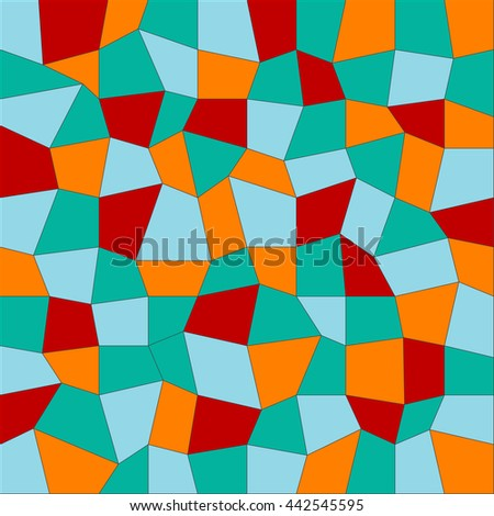 Geometric low poly graphic pattern made of rectangle facets. Colorful background. Vector illustration pattern. 3 d texture. red, blue, orange and green. colorful beautiful background - stock vector
