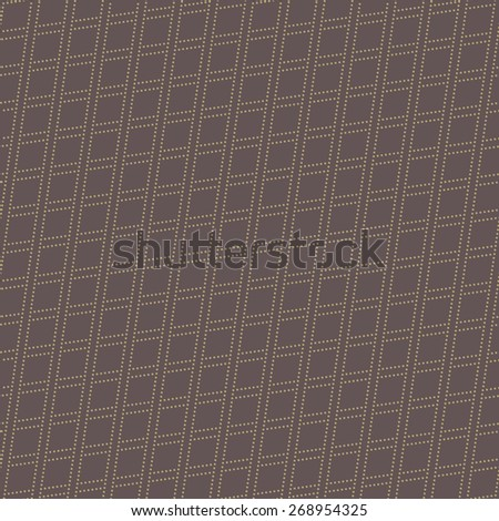 Geometric modern vector seamless pattern. Abstract texture with golden diagonal dotted rhombuses