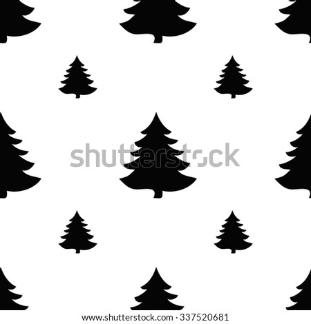 Geometric monochrome seamless pattern Christmas for winter holidays design. Modern Christmas pattern. - stock vector