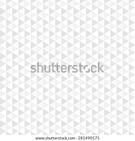 Geometric mosaic background - vector, seamless. White and grey texture. - stock vector