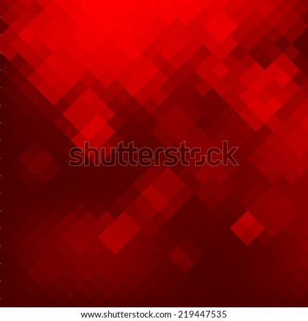Geometric mosaic red background. Vector illustration EPS8 - stock vector