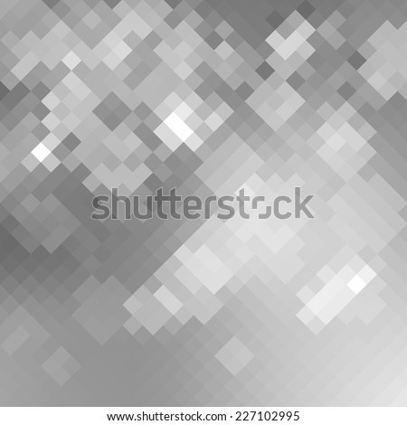 Geometric mosaic silver pixelated background. Vector illustration EPS8 - stock vector