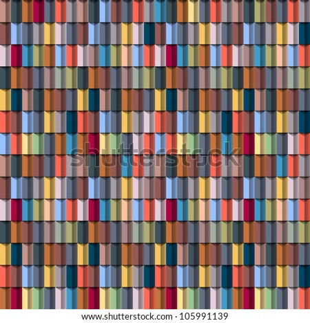 Geometric multicolored structure. Seamless vector - stock vector