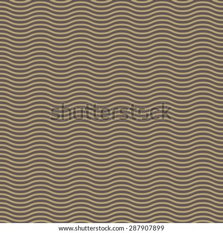 Geometric ornament. Seamless vector background. Abstract texture with repeating golden waves.