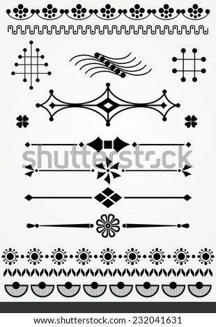 Geometric page decorations - stock vector