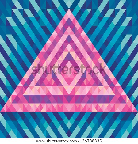 Geometric pattern. Abstract vector background. Pyramid structure.  - stock vector