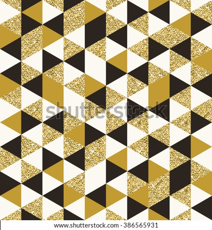 Geometric pattern composed of triangular elements - vector seamless background