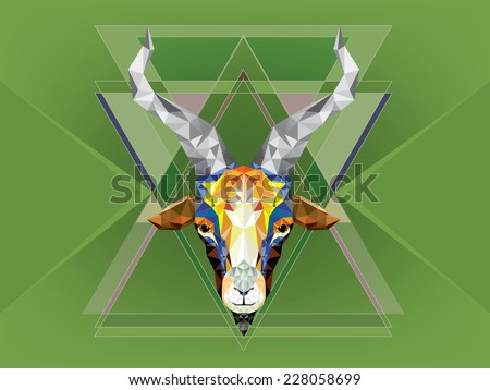 Geometric pattern goat. Vector illustration.  - stock vector
