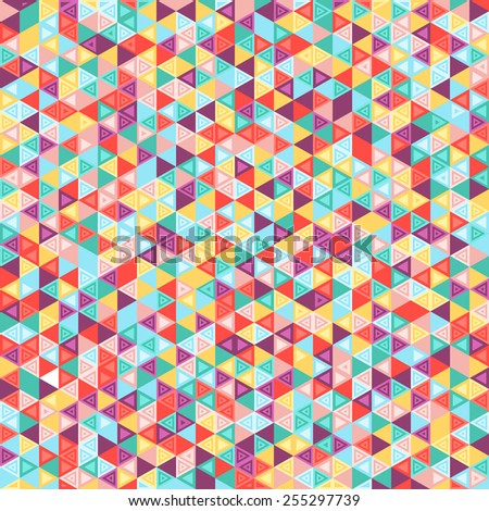 Geometric pattern. Mosaic colorful background of geometric shapes. Modern stylish texture. Repeating geometric tiles.