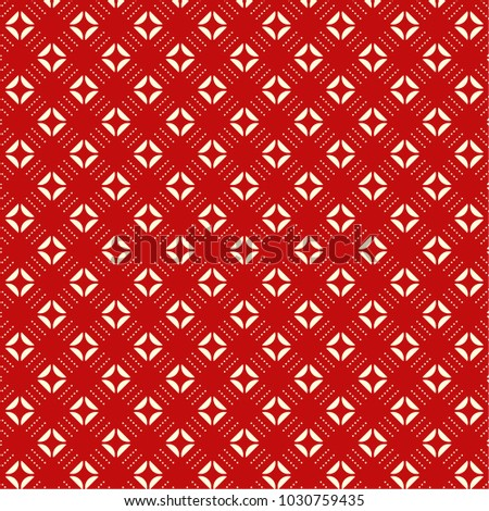 Geometric pattern on red background