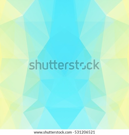 Geometric pattern, polygon triangles vector background in yellow, blue, white  tones. Illustration pattern