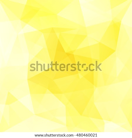 Geometric pattern, polygon triangles vector background in yellow, white tones. Illustration pattern
