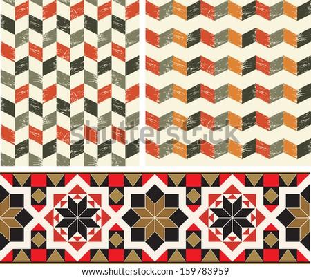 Geometric pattern, seamless - stock vector