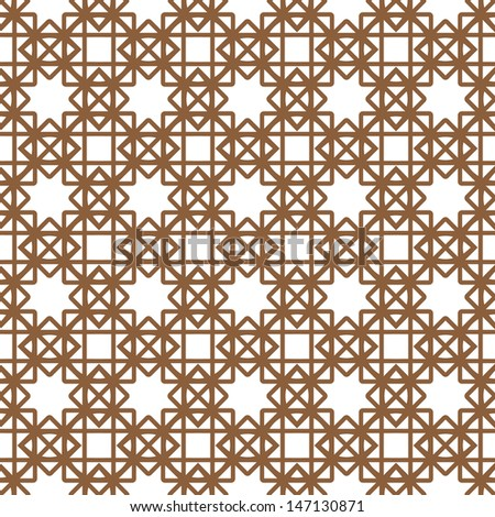 Geometric pattern.Seamless background with stars. - stock vector