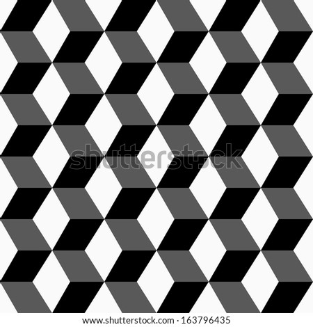 Geometric pattern, seamless 3 D background. - stock vector