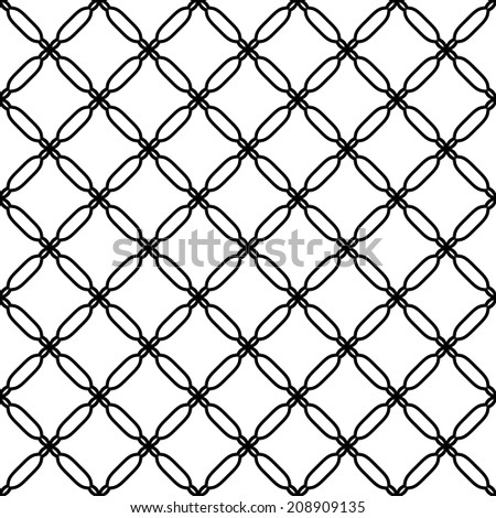 Geometric pattern with oriental elements. Seamless vector background. Abstract texture