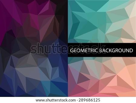 Geometric patterns set - stock vector