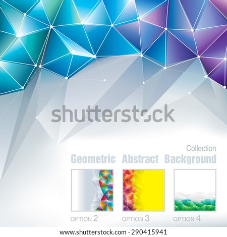 Geometric polygonal pattern abstract background collection.  - stock vector