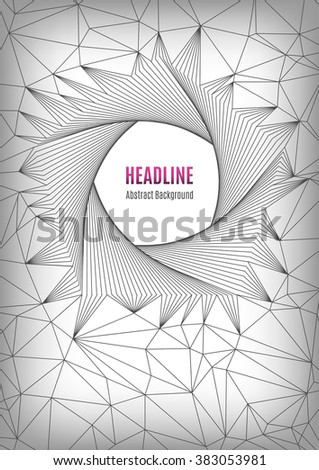 Geometric polygonal posters A4, future technology concept, pentagon line art design, shapes 3d. Typography abstract background for banners, web site, presentations, brochures, flyers, business cards - stock vector