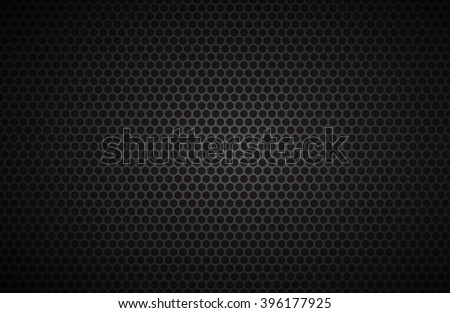Geometric polygons background, abstract black metallic wallpaper, vector illustration - stock vector
