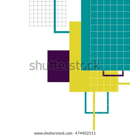 geometric rectangle abstract background, graphic vector illustration