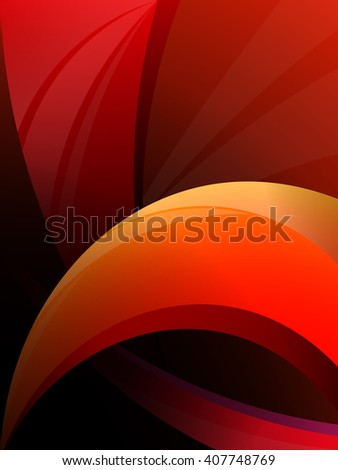 geometric red, orange, background