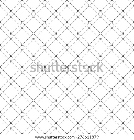 Geometric repeating vector ornament. Seamless abstract modern texture with diagonal grey dotted lines for wallpapers and background