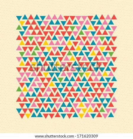 Geometric retro background. Vector. - stock vector