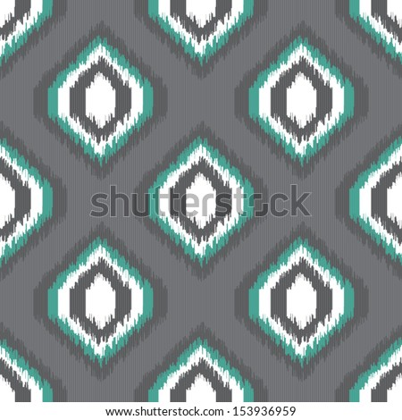 Geometric retro ikat tribal seamless pattern in indian style for web design or home decor - stock vector