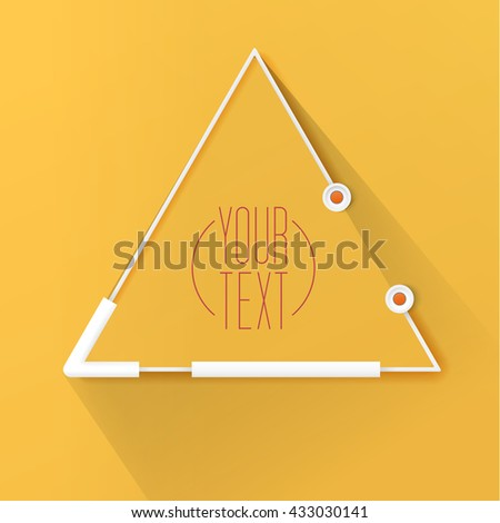 Geometric Robot Style Triangle Text Box vector Design for Your Contemporary Flyer  - stock vector
