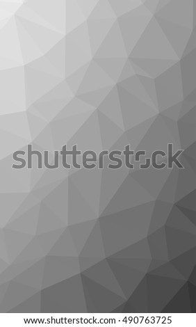 geometric rumpled triangular low poly style vector illustration. black and white polygon background
