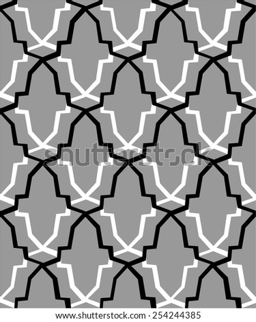 Geometric seamless pattern - stock vector