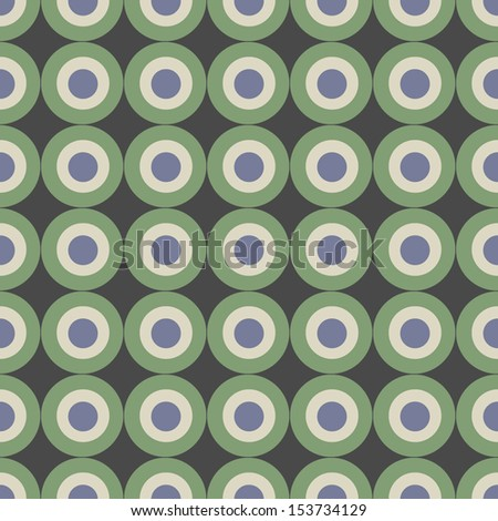Geometric seamless pattern. Abstract background with circles. Vector Illustration.