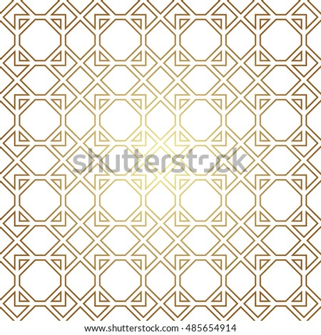 Geometric seamless pattern abstract golden texture stock for Object pool design pattern
