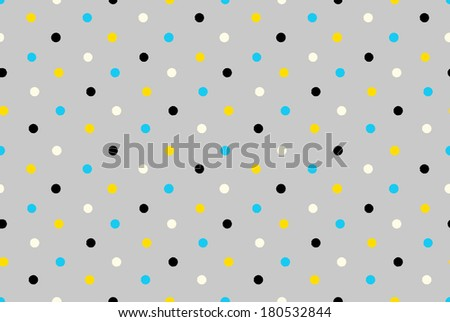 Geometric seamless pattern background grungy polka dots