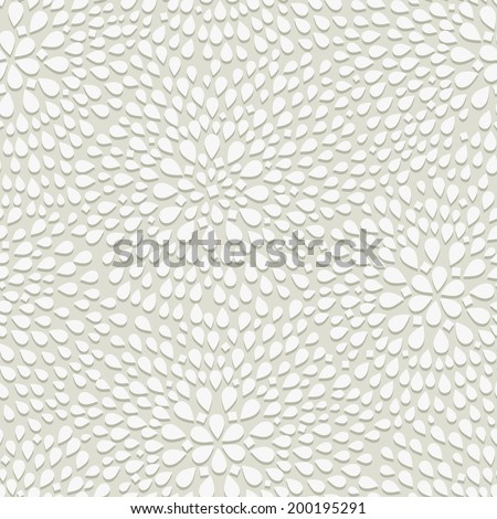 Geometric Seamless Pattern. Dotted Rhombus Structure with Shadow on White. Vector Seamless Background - stock vector