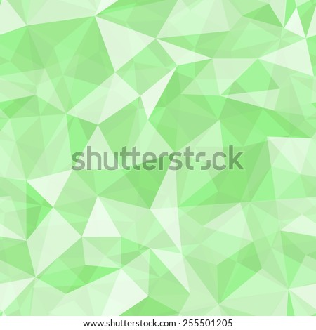 Geometric seamless pattern  from triangles. Green vector illustration. - stock vector
