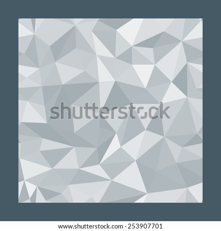 Geometric seamless pattern  from triangles. Grey vector illustration. - stock vector