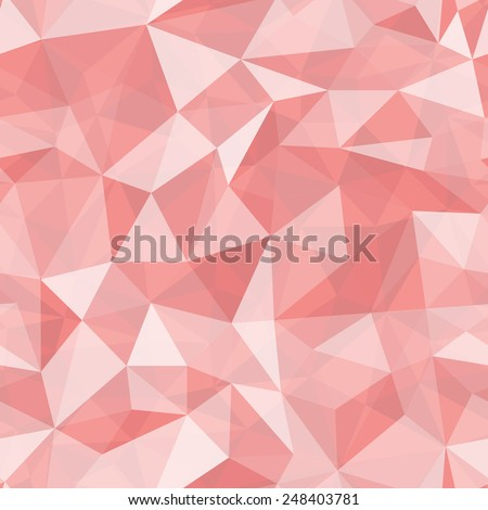 Geometric seamless pattern  from triangles. Red vector illustration. - stock vector
