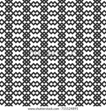 Geometric seamless pattern in line style. Vector illustration for minimalistic design. Abstract background.