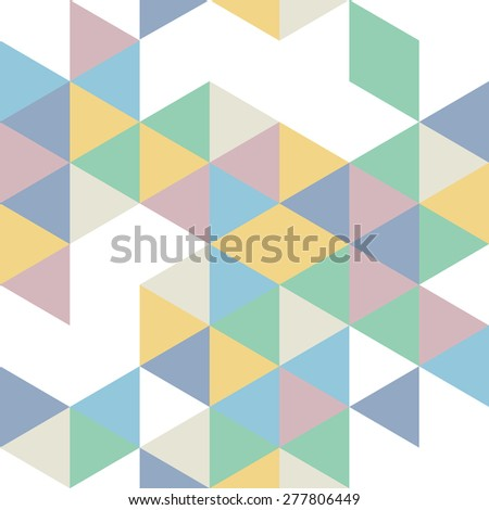 Geometric seamless pattern in retro colors.Vector background - stock vector