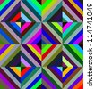 Geometric seamless pattern made of color squares. Modern art design for fabrics. - stock photo