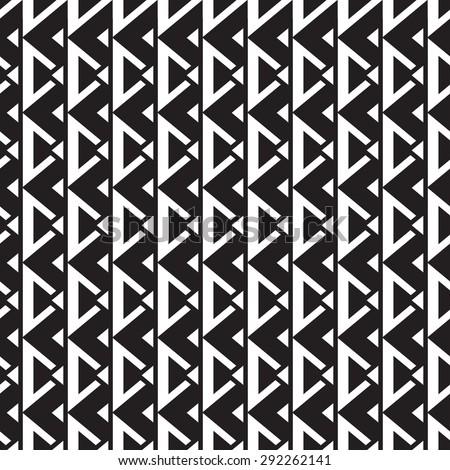 geometric seamless pattern monochrome - vector illustration - stock vector