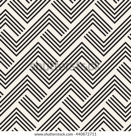 Geometric seamless pattern. Simple regular background. Vector illustration with herringbone or puzzle - stock vector