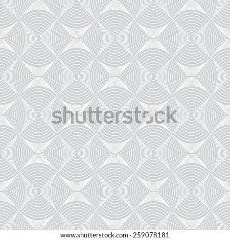 Geometric seamless pattern. Texture with circular elements. Monochrome. Vector illustration - stock vector