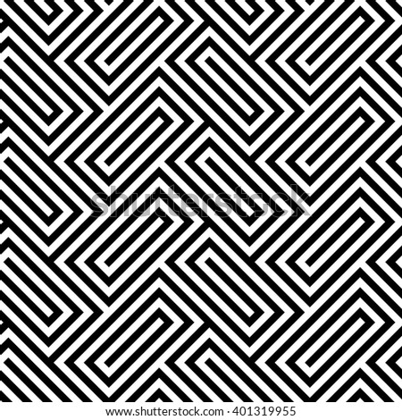 Geometric seamless pattern. Vector illustration - stock vector